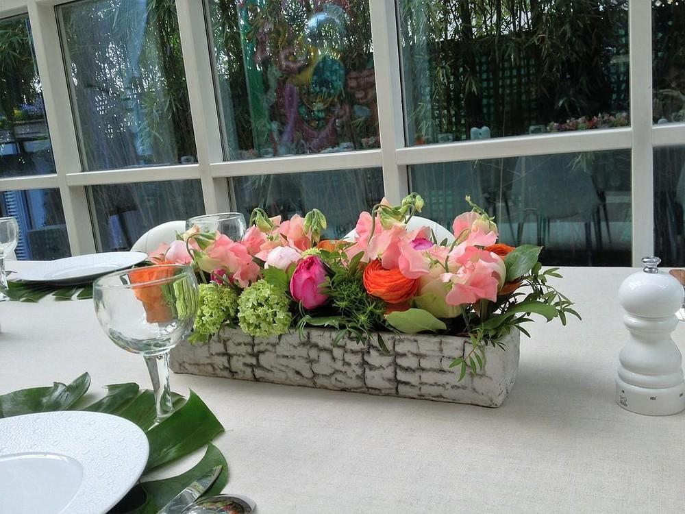 Hierba y rosa - mesa