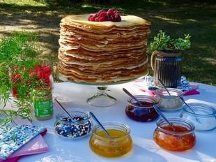 Glück ist in den Pfannkuchen